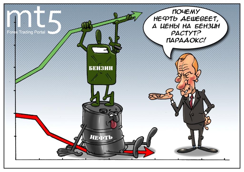 Почему цены не снижаются на бензин